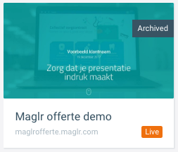 Maglr dashboard - Archiving publications